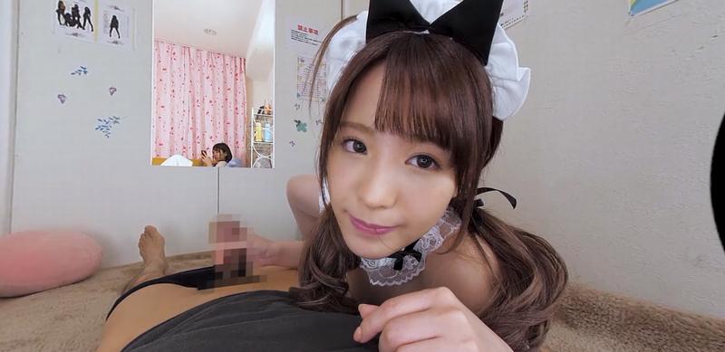 【VR】アイドル級に可愛いリフレ嬢桃乃木かながスケスケ衣装で囁きまくる